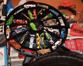 32 Hotwheel vehicles