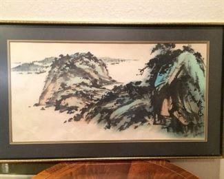 Asian Styled Framed Print https://ctbids.com/#!/description/share/212883