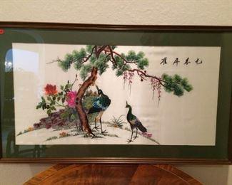 Framed Silk Embroidery Piece https://ctbids.com/#!/description/share/212884