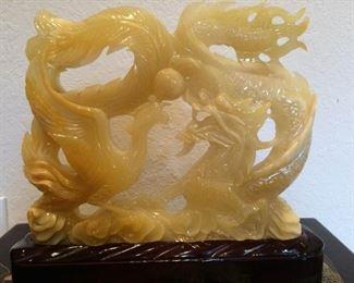 Asian Stone Dragon Sculpture https://ctbids.com/#!/description/share/212891