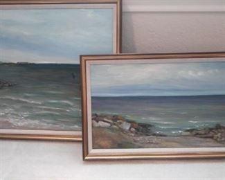 Set of two pictures of beach scences https://ctbids.com/#!/description/share/212896