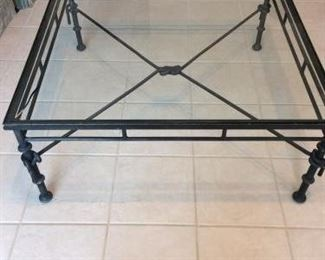 Metal and Glass Coffee Table https://ctbids.com/#!/description/share/212912