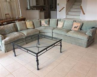 Large Modular Sofa Set- Multiple Configurations https://ctbids.com/#!/description/share/212914