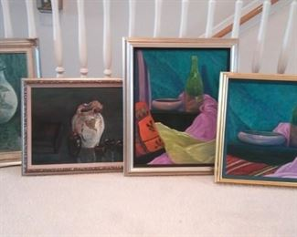 Four Colorful Still Life Style Paintings https://ctbids.com/#!/description/share/213178