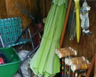 Umbrella for patio table.