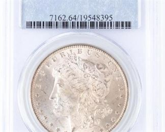 Lot 279 - Coin 1885-O Morgan Silver Dollar PCGS MS64