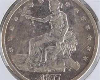 Lot 27 - Coin 1877-S United States Trade Dollar VF+