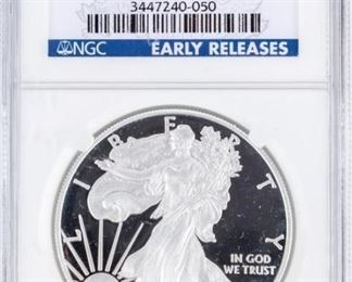 Lot 123 - Coin 2010-W Silver Eagle NGC PF69 UC