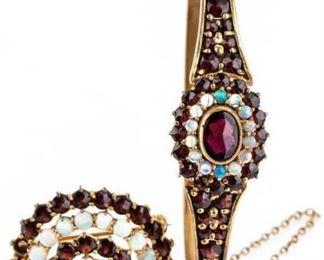 Lot 175 - Vintage Gold Filled Brooch & Bracelet