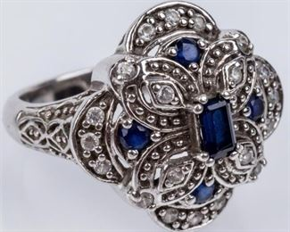 Lot 5 - Jewelry Sterling Silver CZ Cocktail Ring