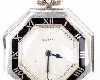 Lot 100 - Vintage Elgin Open Face 17 Jewel Pocket Watch