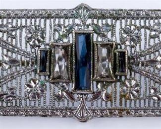Lot 320 - Jewelry Sterling Silver Art Deco Brooch