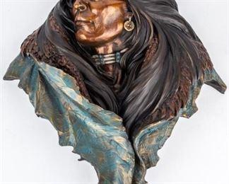 Lot 365 - Art Dan Garrett Ltd Ed Cast Bronze Wall Sculpture