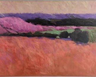 "Lot 1 - Art Francis Dodd Oil on Canvas ""Orange Meadow"""