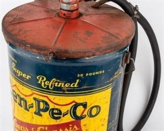 Lot 221 - Vintage Cen-Pe-Co 50 LBS Oil Can