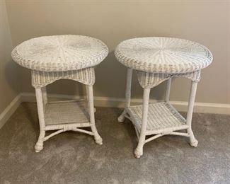WICKER SIDE TABLES