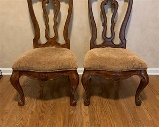 TWO NICE  UPHOLSTERED SIDE CHAIRS
