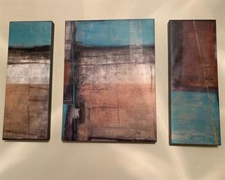 THREE PANEL WALL DECOR LOOKS GREAT OVER A BED
