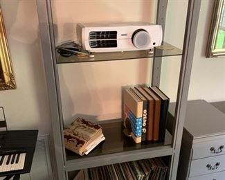 Adjustable Glass Shelves , Wood Frame, Easily Expandable to add shelves