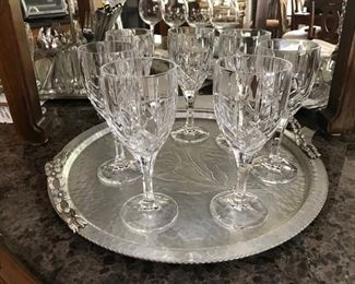 Stemware (Hammered Tray is not for sale)