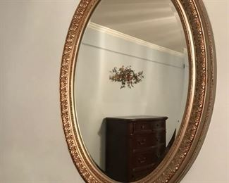 Beautiful Large Beveled Mirror in Gold