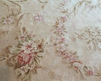 Several room size Aubusson rugs.