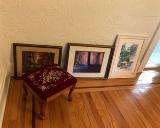 Pictures, Foot Stool