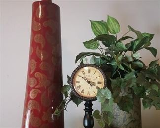 Two Vases and a Clock