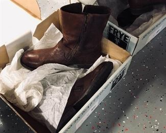 Frye boots in boxes