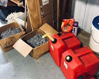gas cans and aluminum nails
