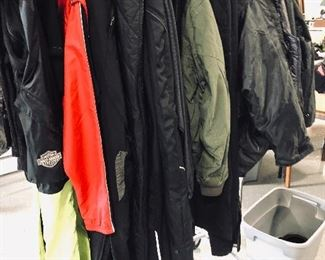 Biker outer layers.