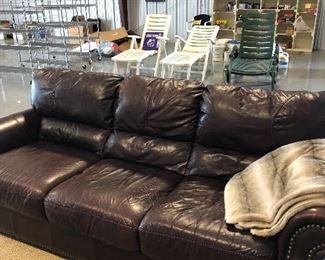 Nice leather sofas