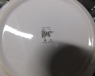 6pc. Baum Bros set (2 bowls, 1 oval platter, 1 cream & sugar with lid