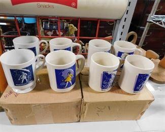 Assorted morton Salt collectible mugs