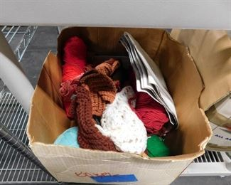 Box of yarn & accessories