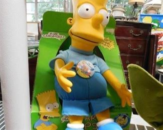 Bart Simpson doll (has some damage on head)
