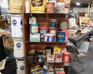 Assorted collectible original & reproduction tins & lunchboxes
