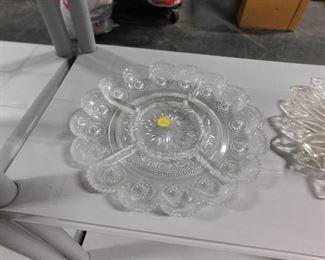 Ornate glass serving platter