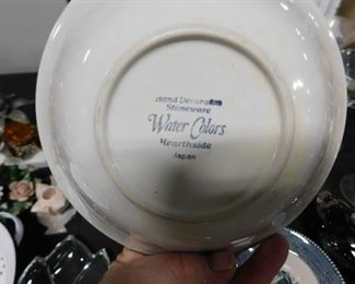 (4) Hearthside Water Colors bowls Japan