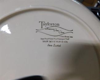 (2) Taylorton American fine china Rose Satchel pattern
