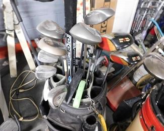 Assorted upscale used golf clubs Ping, Taylor, Callaway etc