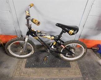 "Boys black Hot Wheels 16"" bike"