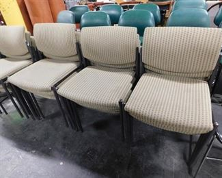 Steelcase fabric padded stack chairs 16 available