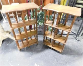 (2) Matching wall mount or table top wooden displays