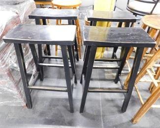 4 Shabby chic rectangular bar stools