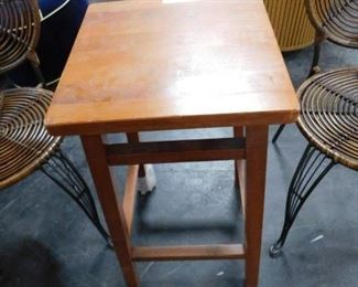 1 Solid wood square bar stool New
