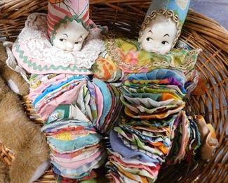 Vintage clown dolls