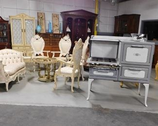 Assorted antique & collectible furniture & misc