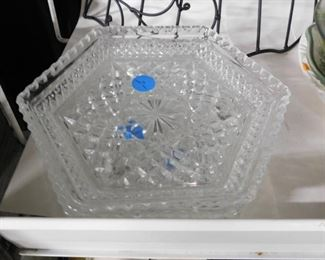 Cut glass dishes