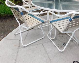 smaller patio set
